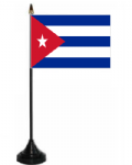 Cuba Desk / Table Flag with plastic stand and base.